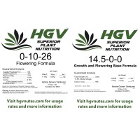 0.6lbs of Flowering Formula + 0.4lbs of Base formula for a net weight of 1lb