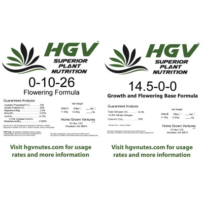 2.4lbs of Flowering formula + 1.6lbs of Base formula for a net weight of 4lbs.